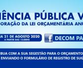 EDITAL DE CONVITE PARA AUDIÊNCIA PÚBLICA DIGITAL – LEI ORÇAMENTÁRIA ANUAL – 2021